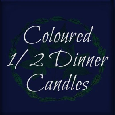 Coloured Half-sized-dinner-candles